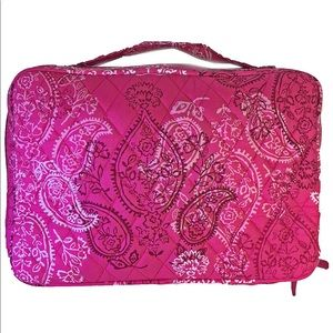 Vera Bradley Large Blush and Brush makeup bag